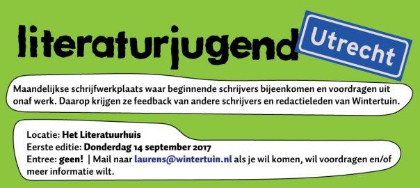 Literaturjugend komt naar Utrecht!